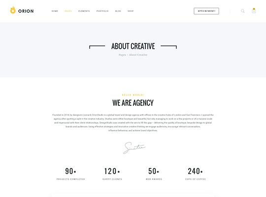 Orion Creative Multi Purpose Just Another Wordpress Site