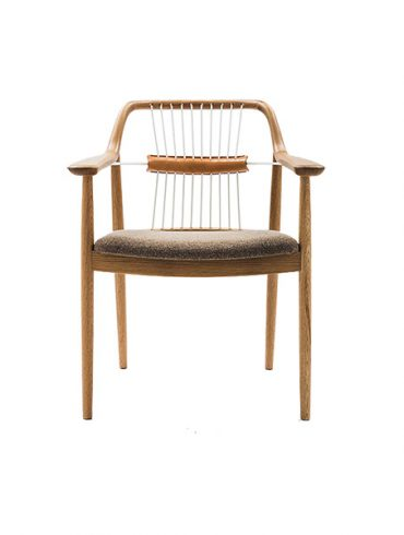 Armchair white/oak