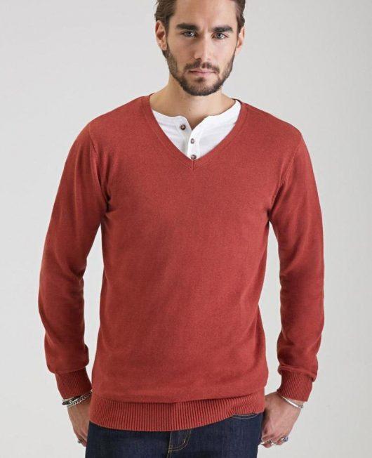 shop-rust-forever21-v-neck-knit
