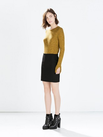 Short Skirt Black Gold