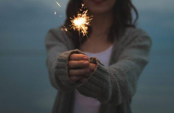 Girl Playing Fireworks